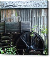 Cade's Cove Historic Cable Mill Water Wheel Acrylic Print