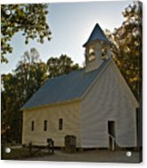 Cades Cove Methodist Church Aglow Acrylic Print