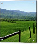 Cades Cove View Acrylic Print