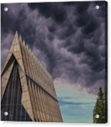 Cadet Chapel At The United States Air Force Academy Acrylic Print
