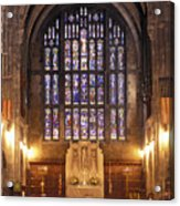 Cadet Chapel With Stained Glass Windows Acrylic Print