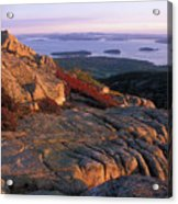 Cadillac Mountain At Sunrise Acrylic Print