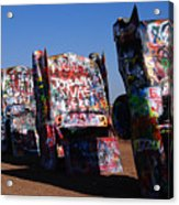 Cadillac Ranch On Route 66 Acrylic Print