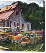 Cadillac Ranch Acrylic Print