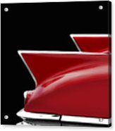 Cadillac Sharp Edged Fins Acrylic Print