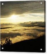 Cadillac Sunset II Panorama Acrylic Print