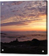 Cadillac Sunset IIi Panorama Acrylic Print