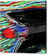 Cadillac Tail Fin Guitar Fantasy Acrylic Print