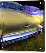 Cadillacs All In A Row Acrylic Print