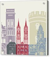 Caen Skyline Poster Acrylic Print