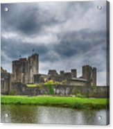 Caerphilly Castle North View 3 Acrylic Print