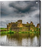 Caerphilly Castle South East View 1 Acrylic Print