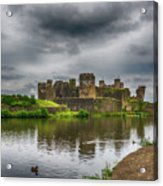 Caerphilly Castle South East View 2 Acrylic Print