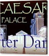 Caesars Palace After Dark Acrylic Print