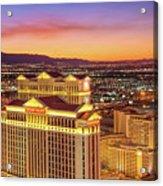 Caesars Palace After Sunset 6 To 3.5 Aspect Ratio Acrylic Print