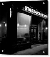 Cafe At Night  Acrylic Print
