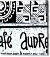 Cafe Audrey Acrylic Print