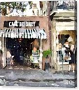 Cafe Beignet Summer Day Acrylic Print
