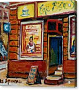 Cafe Bistro St. Viateur Acrylic Print