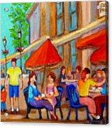 Cafe Casa Grecque Prince Arthur Acrylic Print