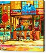 Cafe Coin Des Artistes Acrylic Print