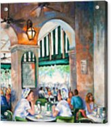 Cafe Girls Acrylic Print