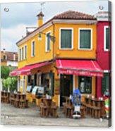 Cafe In Burano Acrylic Print