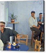 Cafe In Greece Acrylic Print