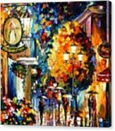 Cafe In The Old City Acrylic Print