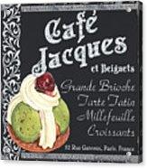 Cafe Jacques Acrylic Print