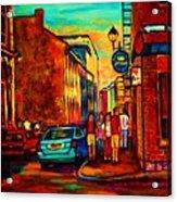 Cafe Le Vieux Port Acrylic Print