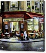 Cafe Regulars Acrylic Print