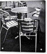 Cafe Seating Acrylic Print