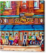Cafe Second Cup Terrace Acrylic Print