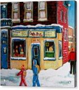 Cafe St. Viateur Montreal Acrylic Print
