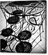 Cafe Table Shadows Acrylic Print