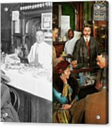 Cafe - Temptations 1915 - Side By Side Acrylic Print