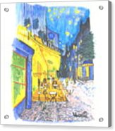 Cafe Terrace At Night - Van Gogh Acrylic Print
