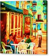 Cafe Vienne Acrylic Print