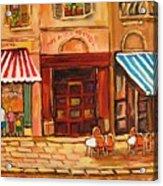 Cafe Vieux Montreal Acrylic Print