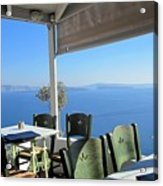 Cafe' With A View Acrylic Print