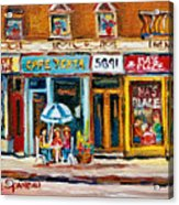 Cafe Yenta And Ma's Place Acrylic Print