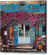 caffe del Aigare Acrylic Print by Guido Borelli