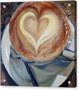 Caffe Vero's Heart Acrylic Print
