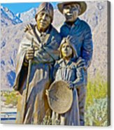 Cahuilla Band Of Agua Caliente Indians Sculpture On Tahquitz Canyon Way In Palm Springs-california Acrylic Print