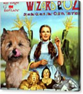 Cairn Terrier Art Canvas Print - The Wizard Of Oz Movie Poster Acrylic Print
