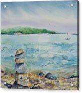 Cairns On The Beach Acrylic Print