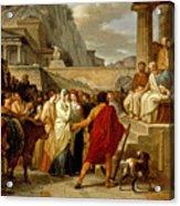 Caius Furius Cressinus Accused Of Sorcery Acrylic Print