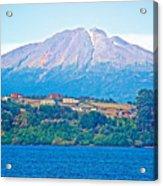 Calbuco Volcano Over Llanquihue Lake From Puerto Varas-chile Acrylic Print