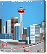 Calgary Alberta Canada Vertical Skyline Acrylic Print